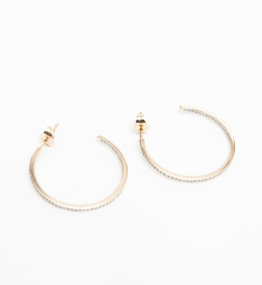 Medium Pavé Hoops