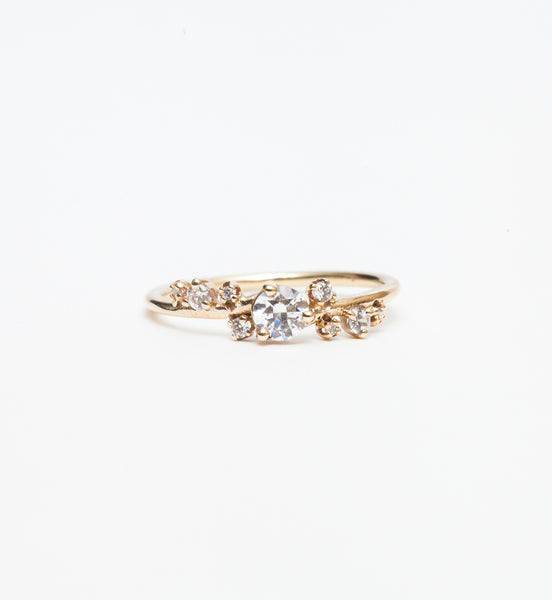 Organic Crossover Diamond Ring