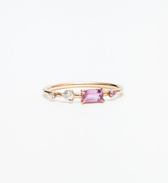 One-of-a-Kind Blush Four Step Ring