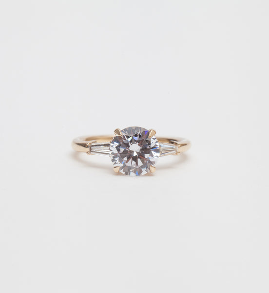 Classic Baguette Engagement Ring