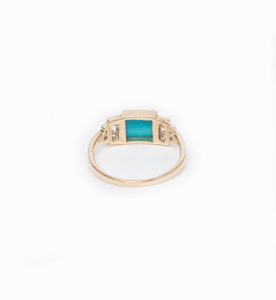 Square Turquoise Band: Back
