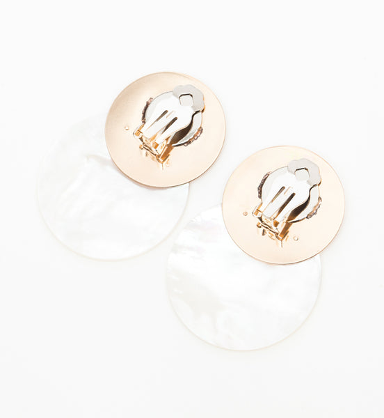 Single 40 mm Mother of Pearl Earring