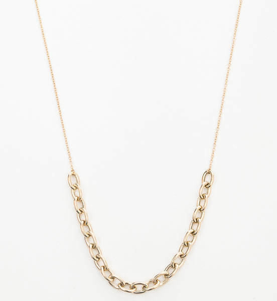 Oval Link Station Necklace