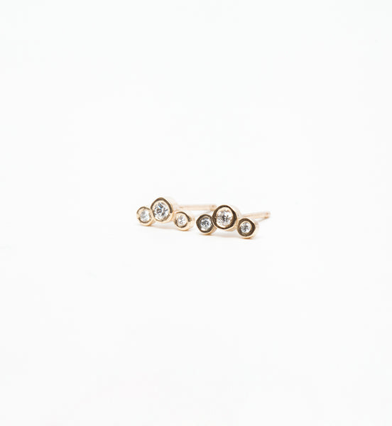 Small Graduated Bezel Diamond Studs