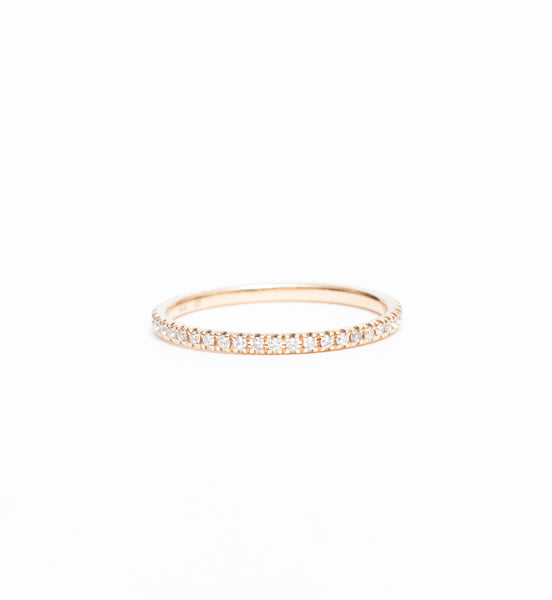 White Diamond Eleonore Three-Quarter Pavé Band
