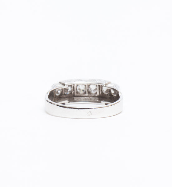 French Art Deco Old Mine Ring