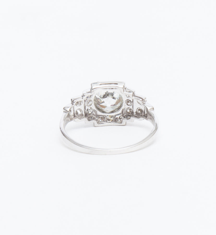 1.23 ct Old European Diamond Step Down Ring