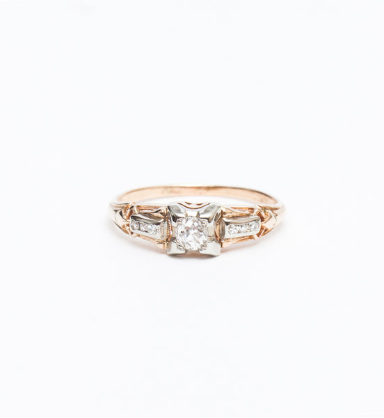0.20 ct Fishtail Accented Ring