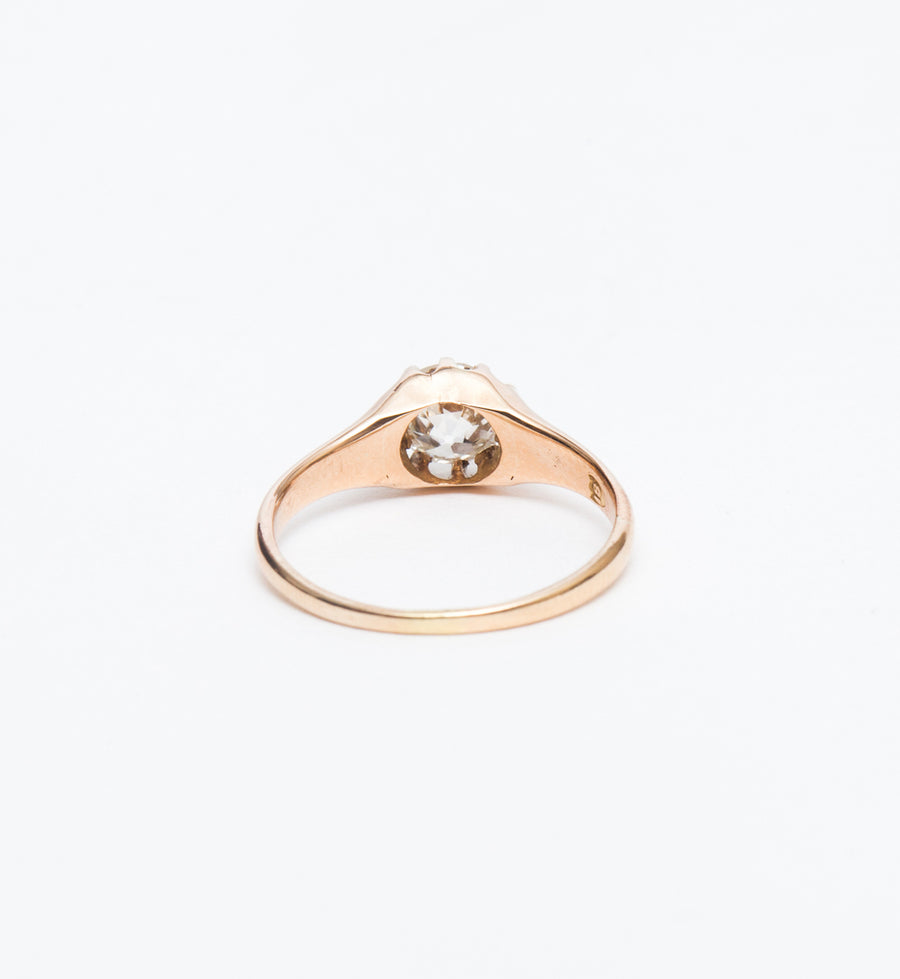 0.81 ct Buttercup Solitaire Ring