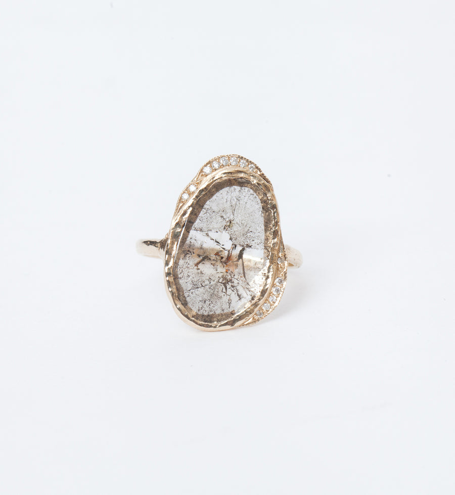 One-of-a-Kind Diamond Slice Hidden Cove Ring