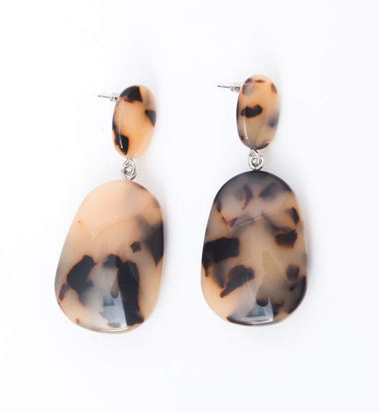 Blonde Tortoise Grande Drop Earrings