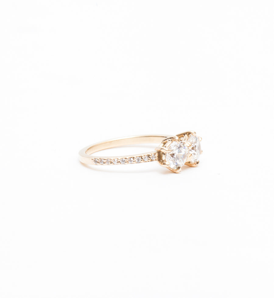 White Diamond Luna Ring