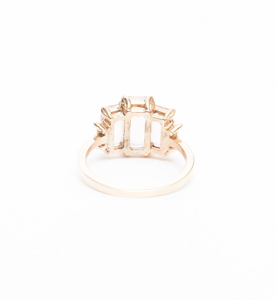 Morganite Monroe Five-Stone Ring
