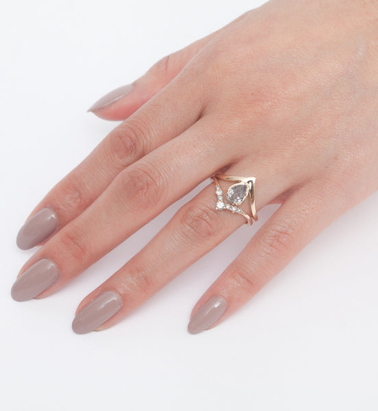 Quartz Celestine Orbit Ring