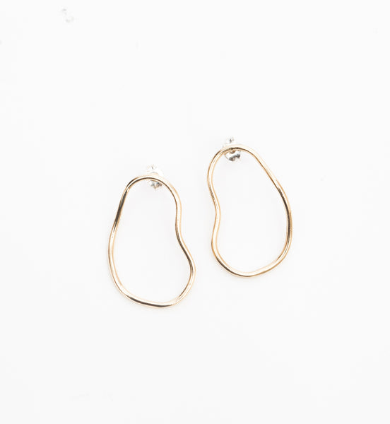 Gold Aalto Outline Earrings