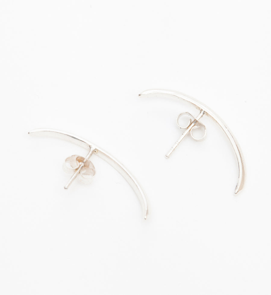 Silver Modernist Suspension Earrings