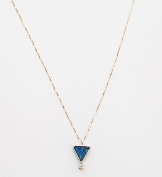 Azurite Geo Triangle Necklace