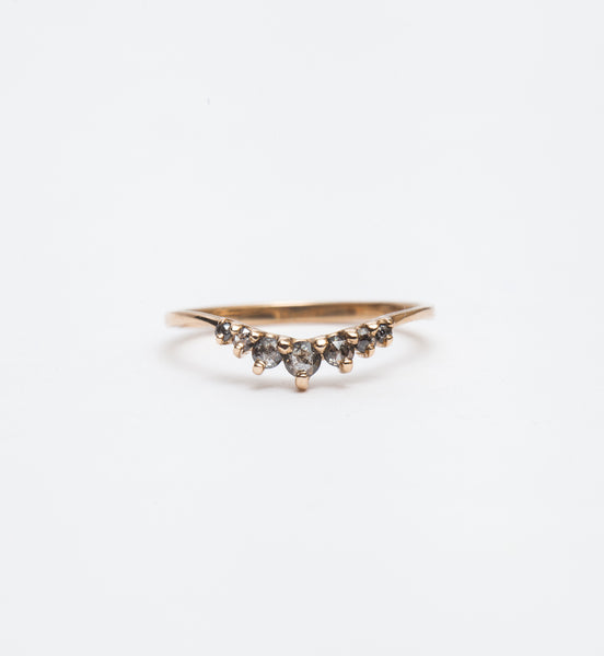 Salt & Pepper Diamond Beacen Ring