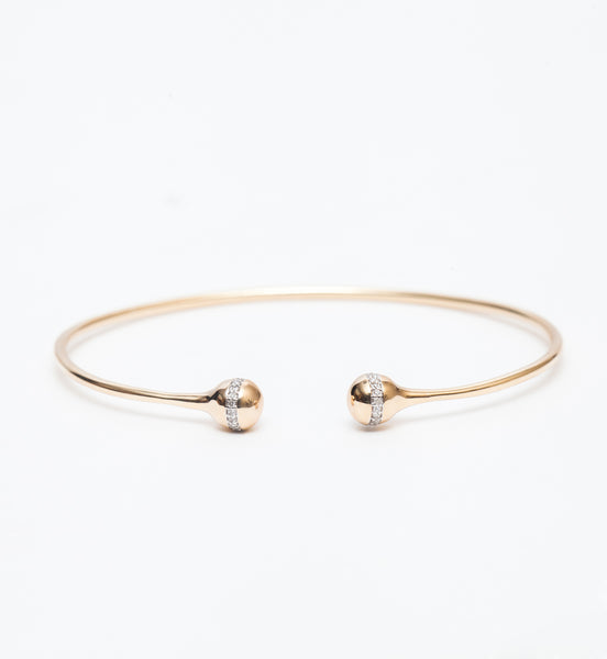 Tiny Pavé Orbit Bangle