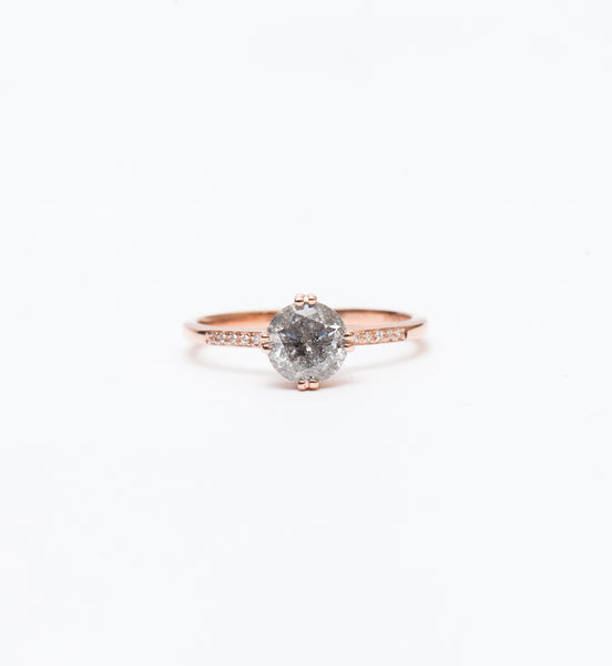 One-of-a-Kind Grey Diamond Sabine Ring