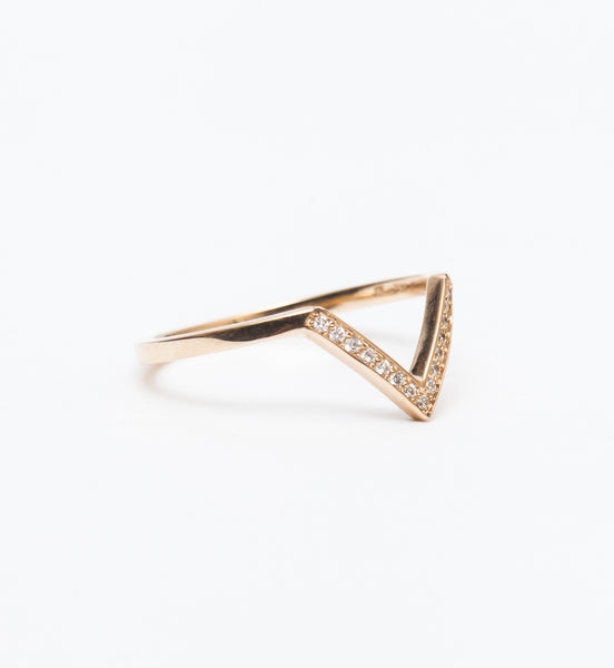 White Diamond Chevron Bea Band