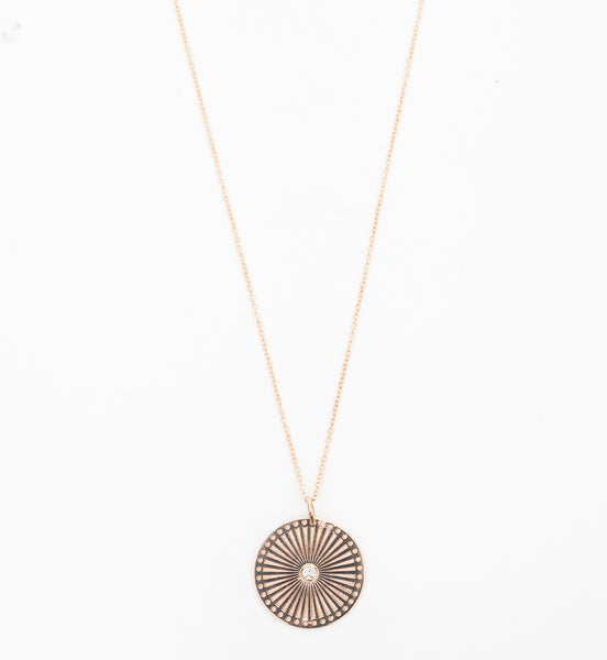 Medium Sunbeam Medallion Necklace