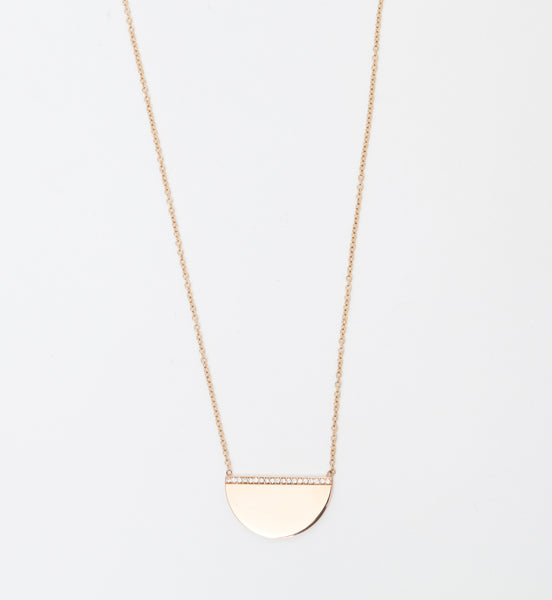 Pavé Diamond Medium Horizon Necklace