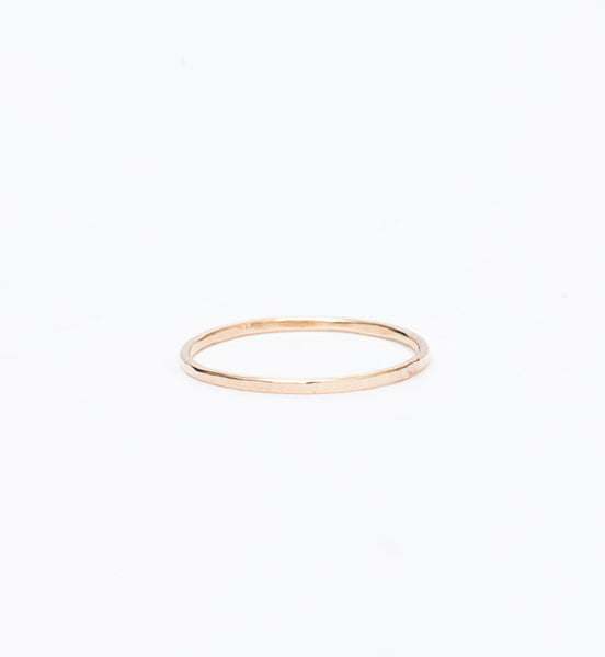 Thin Hammered Band Ring