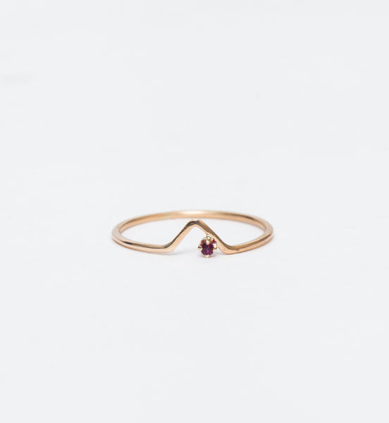 Ruby Triangle Lineage Ring