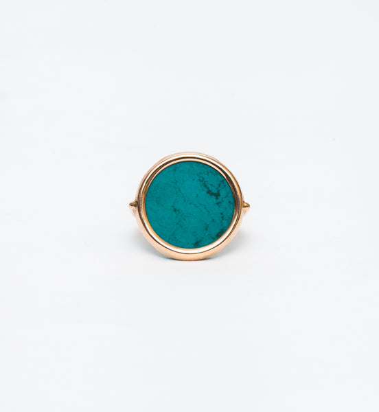 Fallen Sky Turquoise Disc Ring