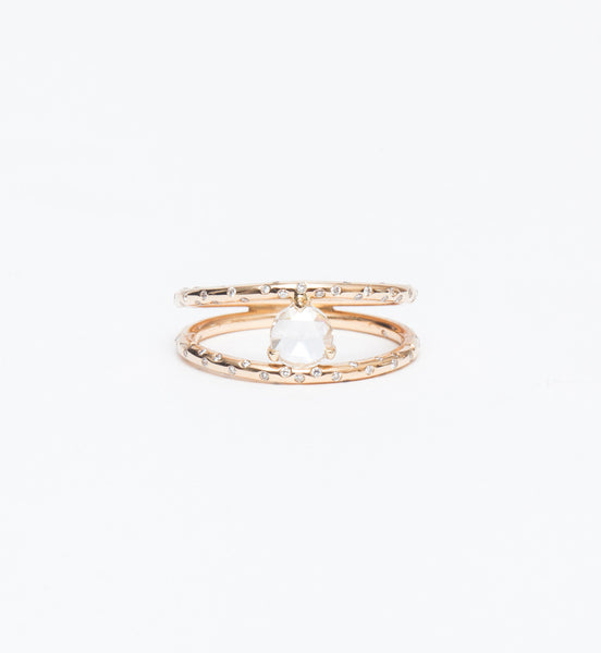 Dew Drop Double Ring