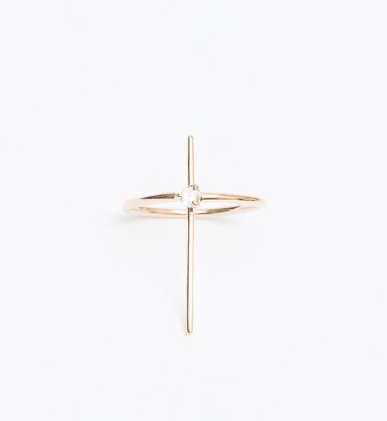 Rose Cut Diamond Pin Ring