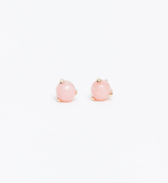 Rose Opal Stud Earrings