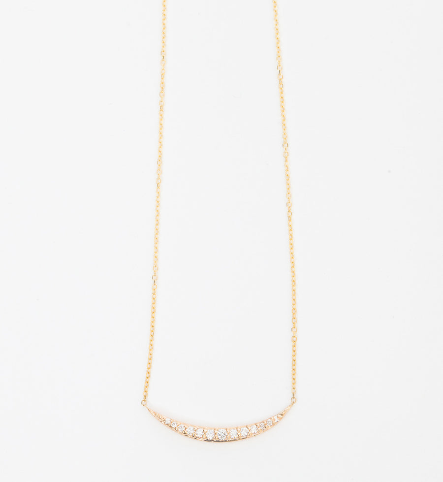 Pavé Crescent Necklace