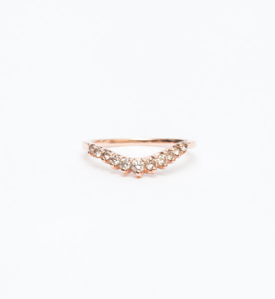 Champagne Diamond Tiara Curve Band
