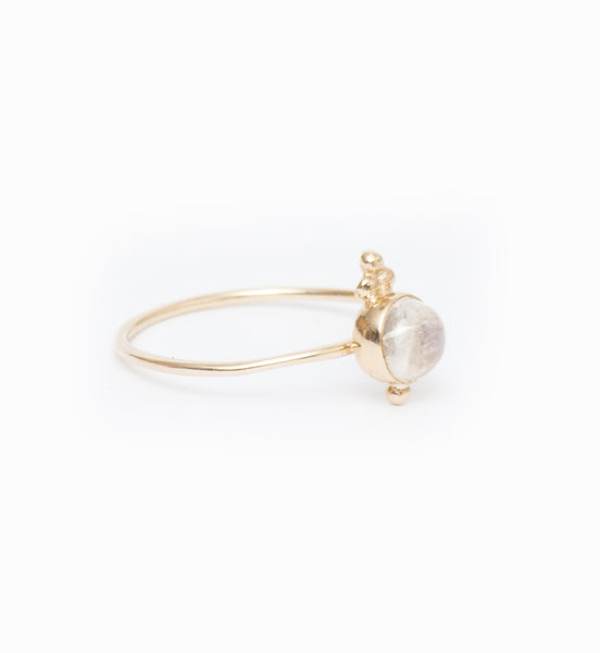 Luna Moonstone Ring: Angle