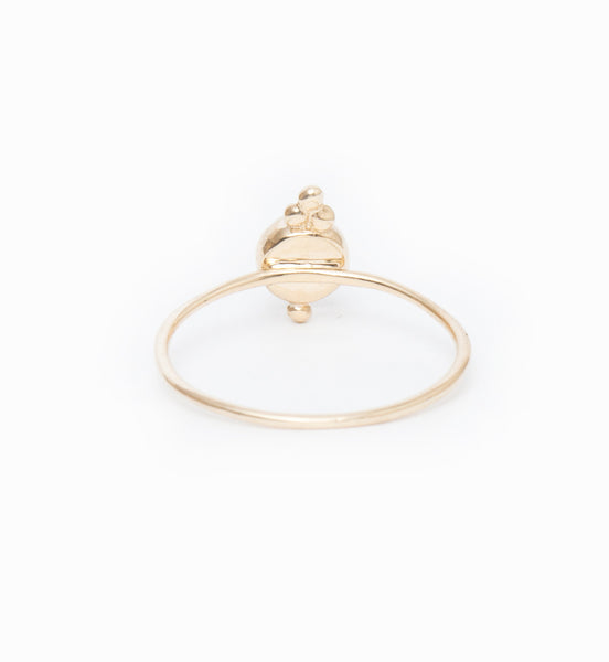 Luna Moonstone Ring: Back