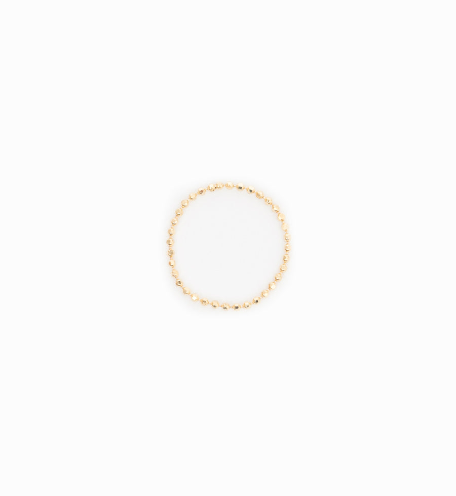 Gold Bead Chain Ring