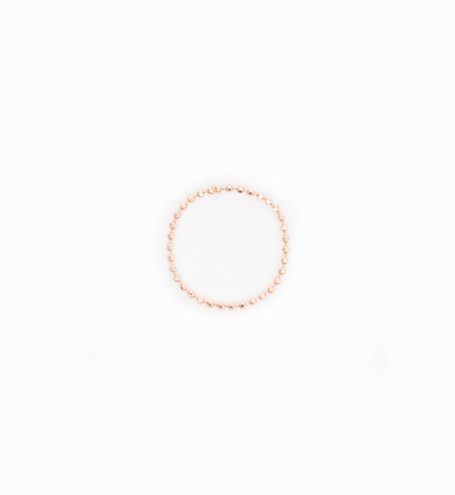 Rose Gold Bead Chain Ring