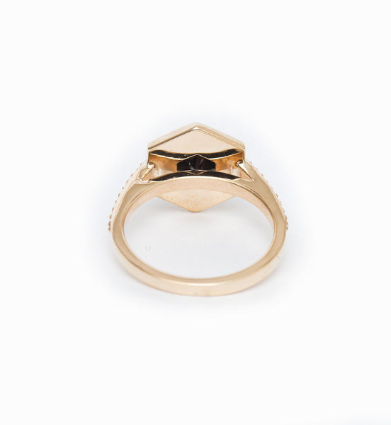 Hex Engagement Ring: Back