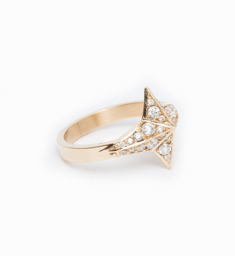 Diamond Pavé Star Ring: Angle