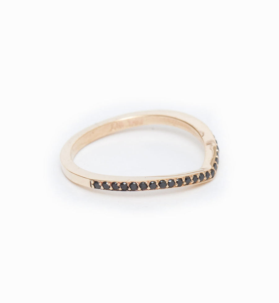 Black Diamond Curved Eternity Band: Angle