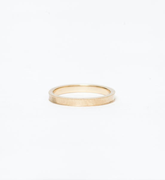 Matte Milgrain Gold Band
