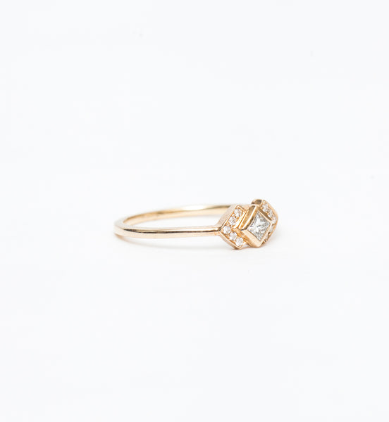 Diamond Chevron Ring