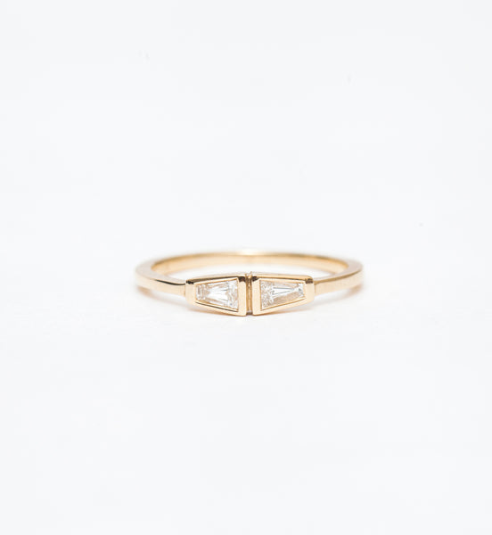 Petite Double Tapered Baguette Ring