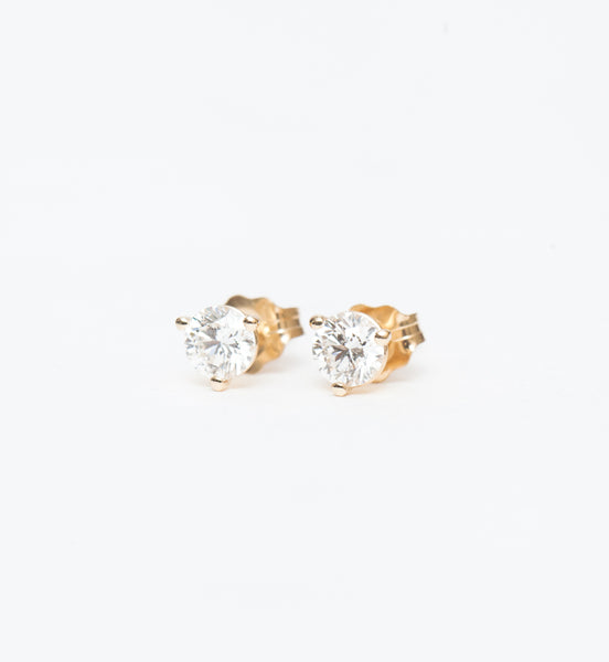 Gold 0.50 ctw Three-Prong Diamond Studs