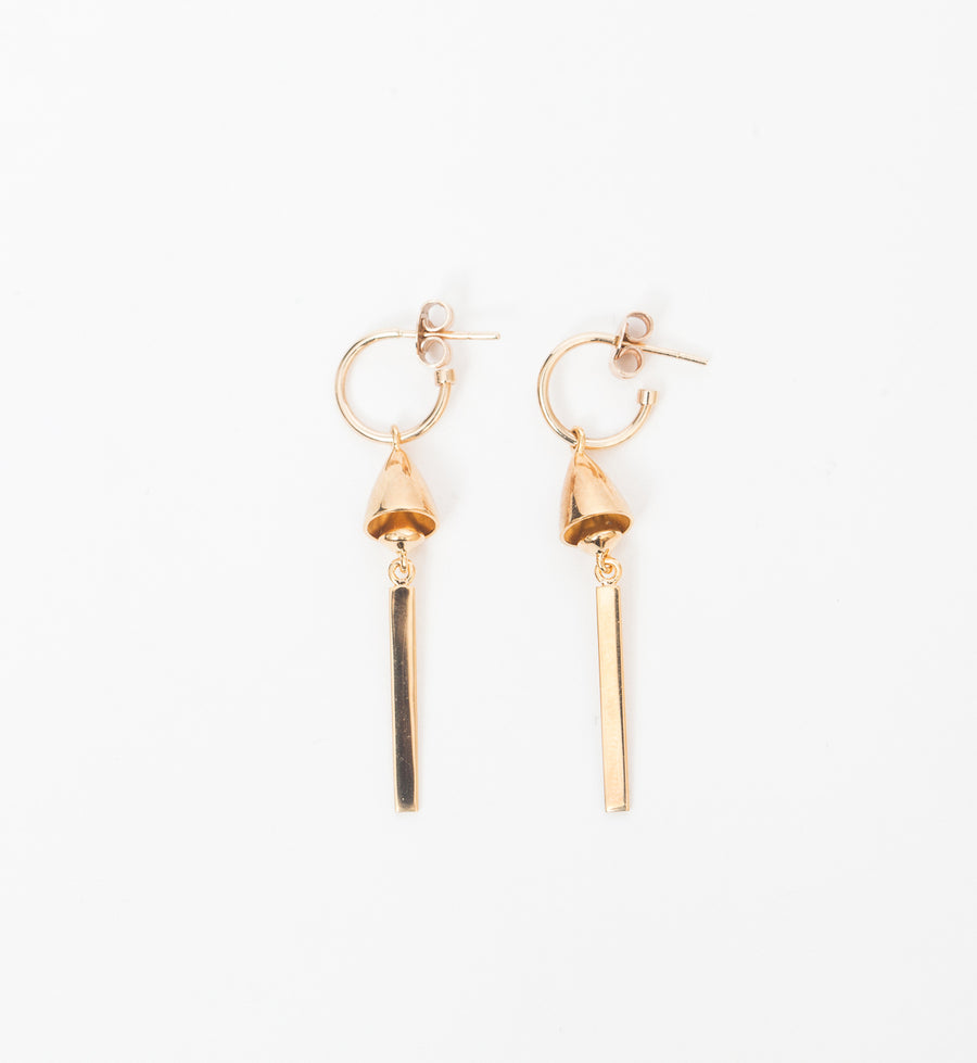 Thea Bell Drop Hoop Earrings