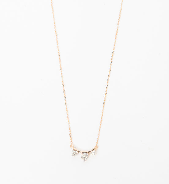 Three Diamond Amigos Curve Necklace