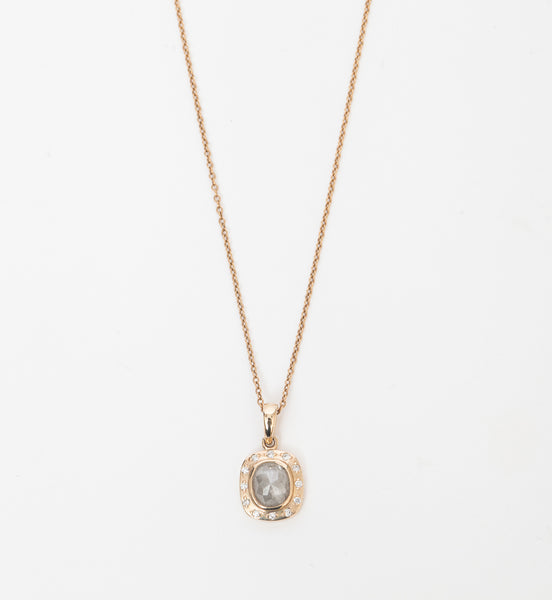 Georgie Rose-Cut Grey Diamond Necklace