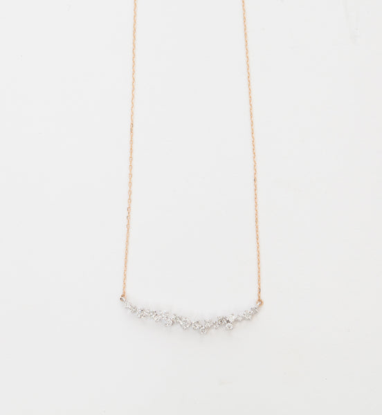 Large Scattered Diamond Curve Necklace